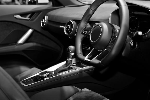 Auto ventilatiesysteem en airconditioning details van moderne auto