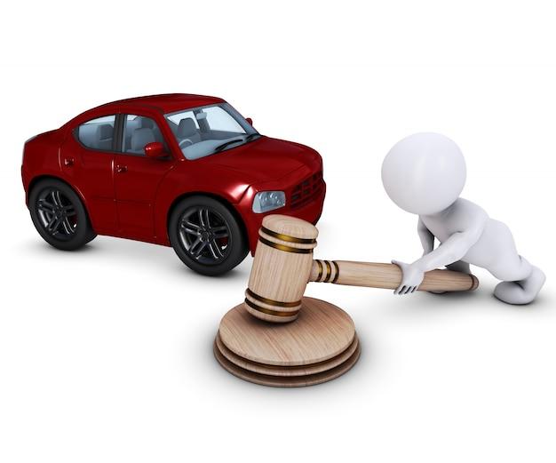 Auto verkocht door een veilingmeester