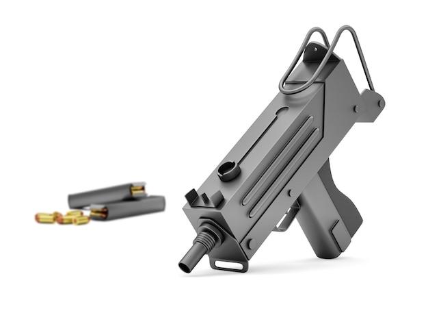 Automatisch 9 mm machinegeweer met geïsoleerde houders