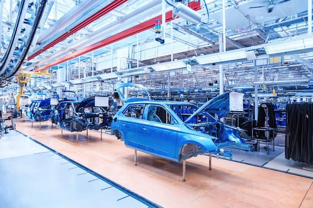 Automobiel lichaam bij autofabriek