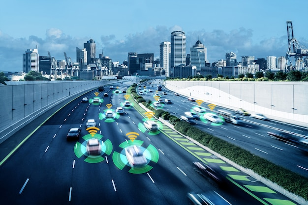 Autonoom autosensorsysteemconcept voor veiligheid van autobesturing zonder bestuurder