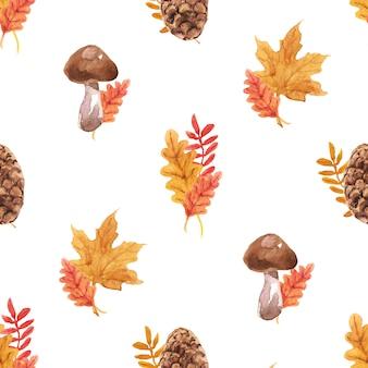 Autumn watercolor naadloos patroon