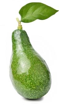 Avocado fruit geïsoleerd op witte ruimte Premium Foto