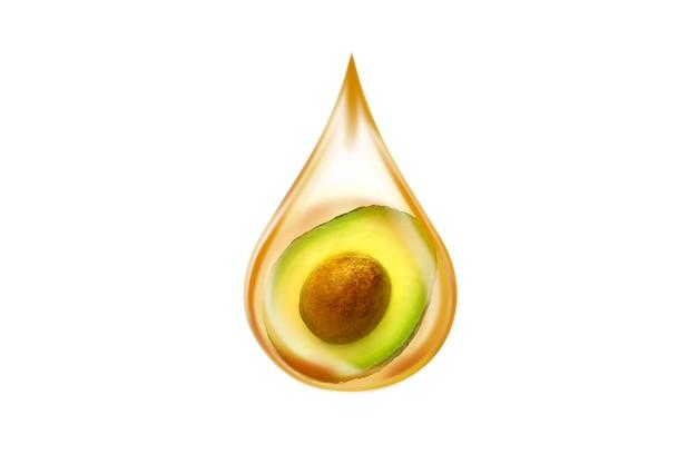 Avocado-olie geïsoleerd