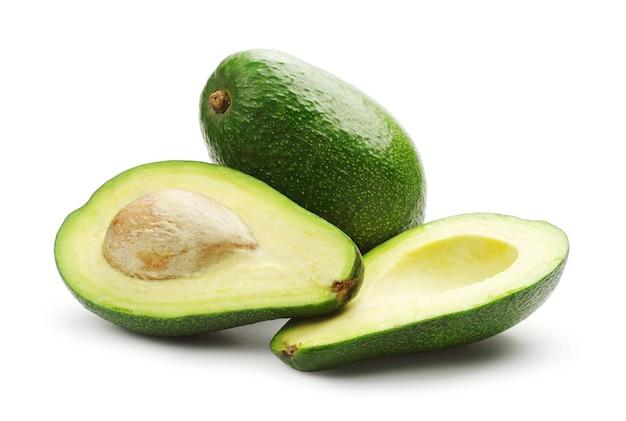 Avocado op een witte achtergrond