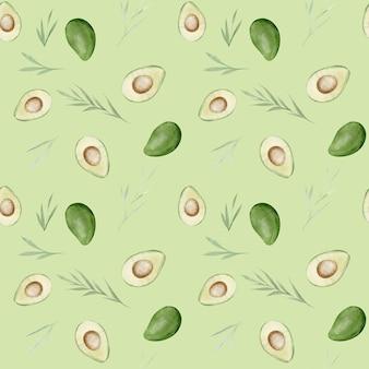 Avocado's aquarel naadloze patroon.