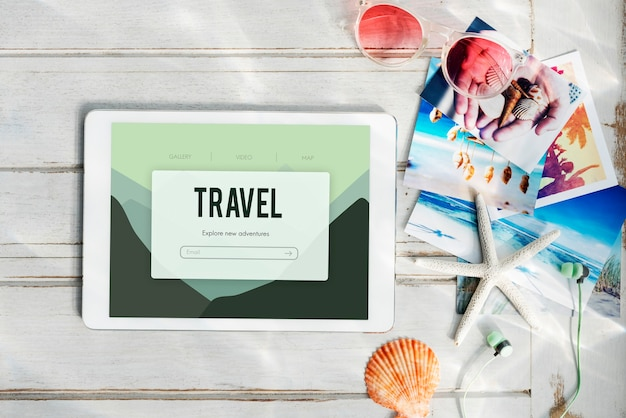 Avontuurlijke vakantie reis reis concept