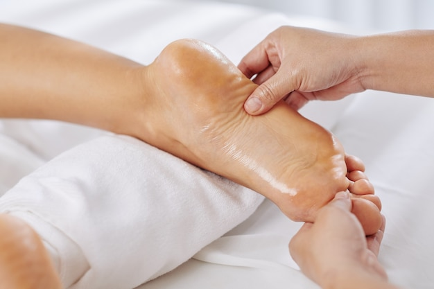 Ayurvedische voetmassage