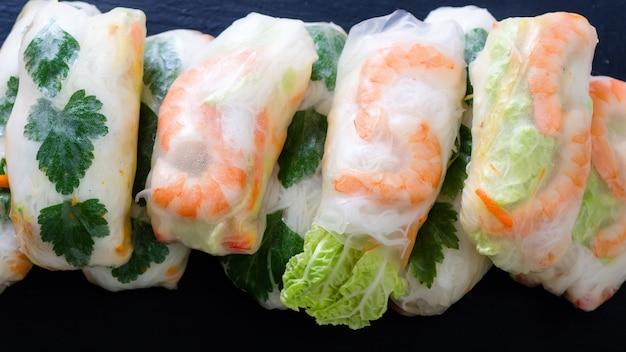 Aziatisch en thais eten. traditionele nationale keuken.