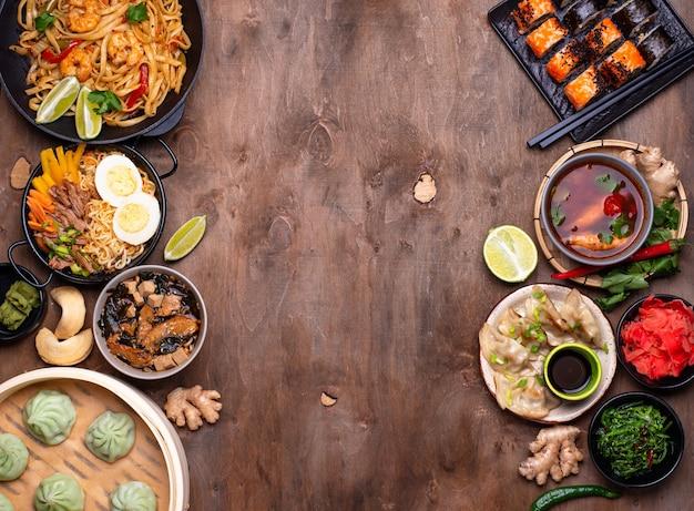 Aziatisch eten. chinese, japanse en thaise keuken