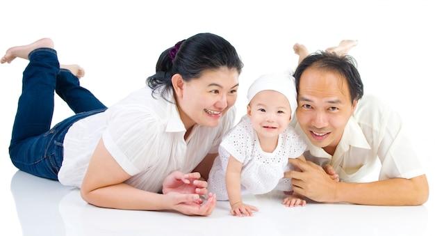 Aziatisch familieportret