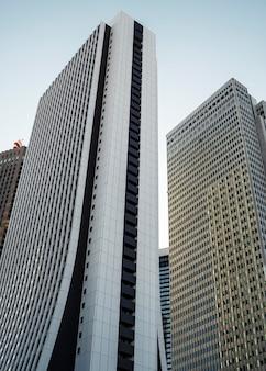 Aziatisch land wolkenkrabber stedelijk landschap