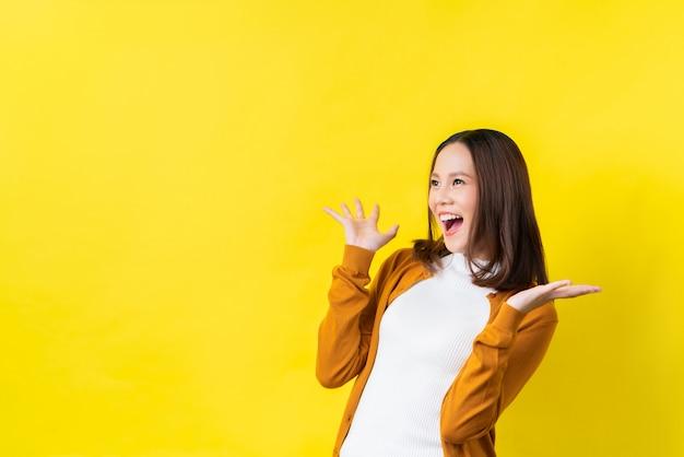 Aziatisch meisje is verrast