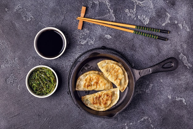 Aziatische dumplings en sojasaus