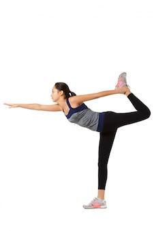 Aziatische fitness vrouw