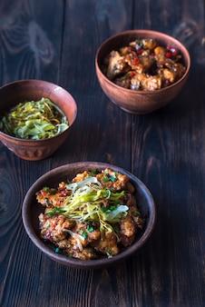 Aziatische kip in zoetzure saus