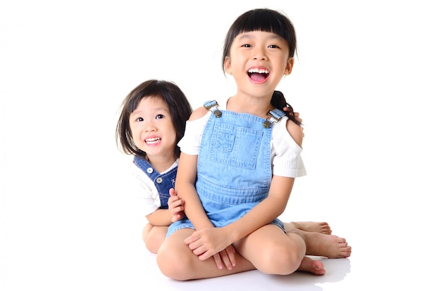 Aziatische kleine meisjes