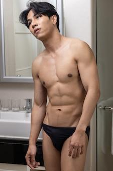 Aziatische knappe jonge man