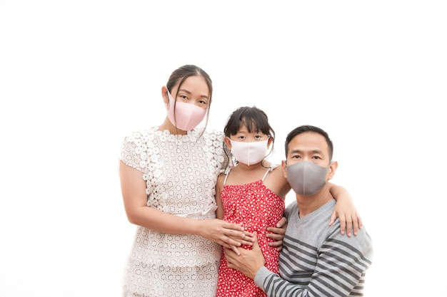 Aziatische man en vrouw met hun dochter
