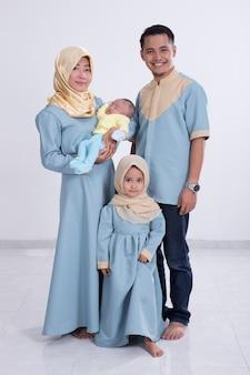 Aziatische moslimfamilie