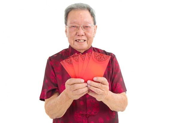 Aziatische senior man