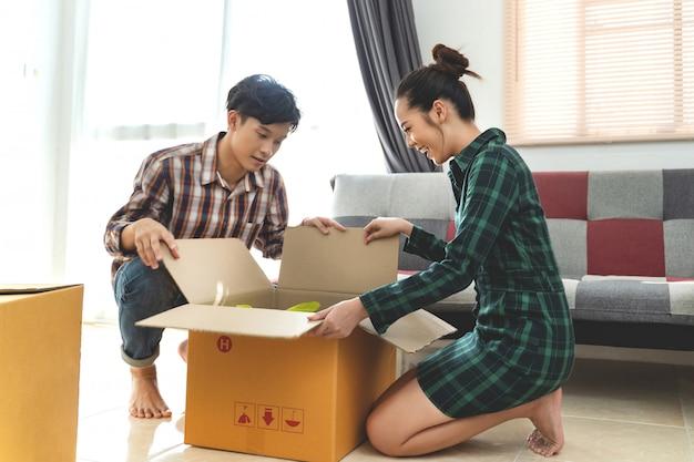 Aziatische stellen verhuizen naar huis