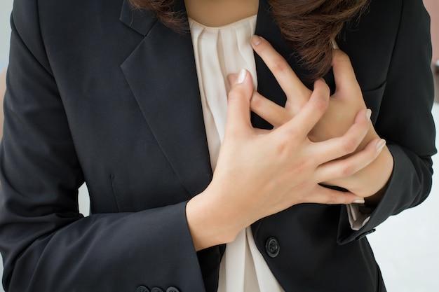 Aziatische vrouw hartaanval, toeval