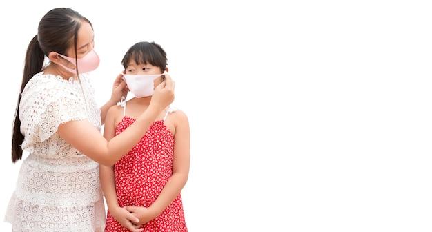 Aziatische vrouw met haar dochter