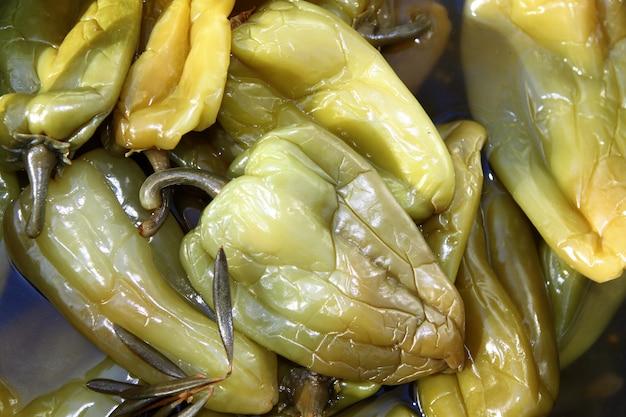 Azijn vinaigrette groene paprika markt