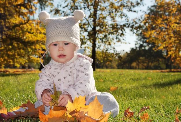 Baby in het park