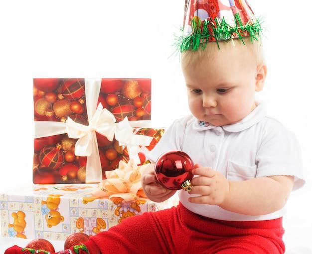 Baby in kerstmis