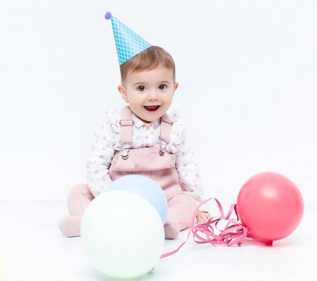 Baby verjaardagsfeestje met ballonnen
