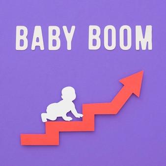 Babyboom vruchtbaarheid concept