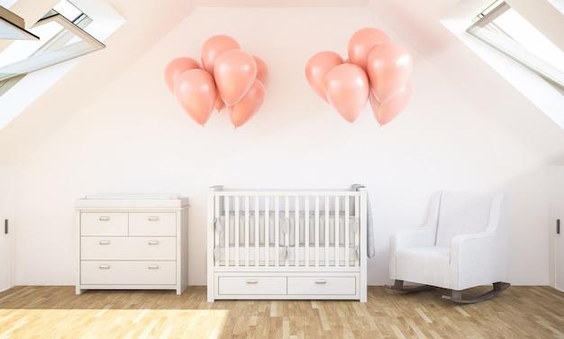 Babykamer op zolder