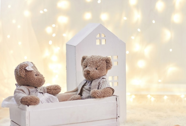 Babyspeelgoed en speelgoedhuis vakantie-inrichting, kinderen