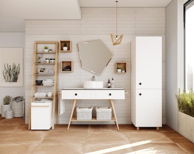 Badkamerontwerp met meubels