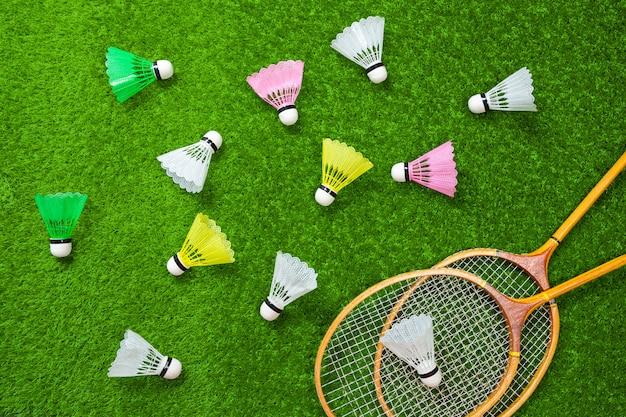 Badminton op gras