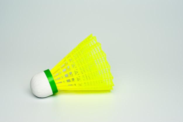 Badminton shuttle close-up