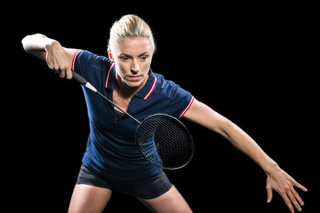 Badminton-speler badminton spelen