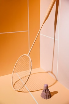 Badmintonracket en shuttle