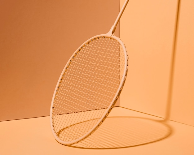 Badmintonracket minimaal stilleven