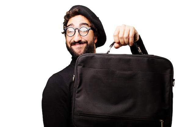 Bag op zoek koffertje stijlvolle artistieke