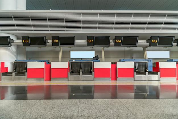 Bagagebalie voor inchecken op de luchthaven