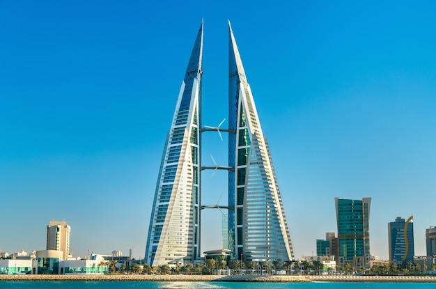 Bahrein world trade center in manama. de perzische golf