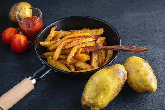 Bak gebakken aardappelen