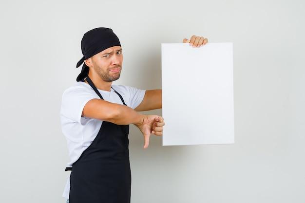 Baker man met leeg canvas
