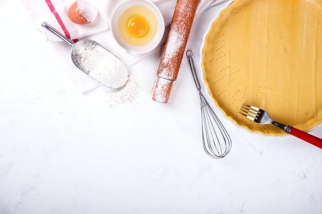 Bakken achtergrond. ingrediënten voor het bakken