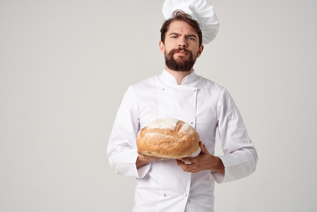 Bakker keuken baan bakkerijproducten geïsoleerde achtergrond