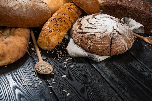Bakkerij en supermarkt voedsel winkelconcept.