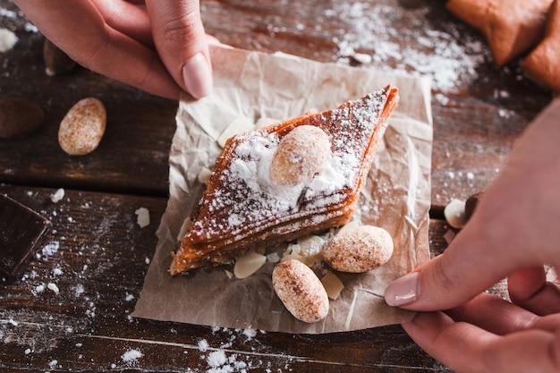 Baklava zoet dessert. turks traditioneel cakeconcept